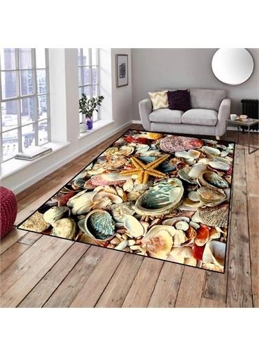 Halı Deniz Kabuğu Modern Dekoratif 3D Salon Halıları 80X150Cm Renkli